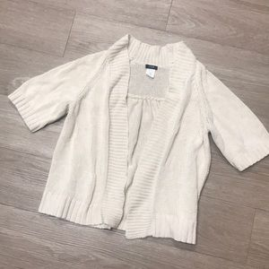 J crew knitted cream cardigan